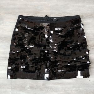 "H&M Black Mini ""Event"" Skirt"